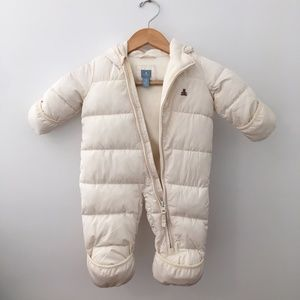 Baby Gap 3-6mo Ivory White One Piece Snow Suit